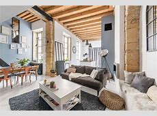 Charming loft apartment in France with modernindustrial