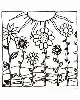 Coloring Pages Sunset Sun Sunsets Adult Ocean Flowers Examples Printables Printable Flower Hills Hand Colored Sheets Drawing Colouring Adults Etsy sketch template