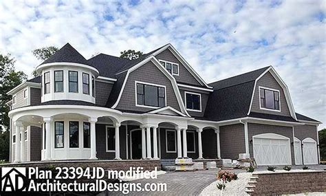 plan jd luxurious shingle style home plan   house plans  stories house plans