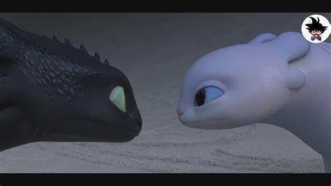 Night Fury Flirting With White Night Fury