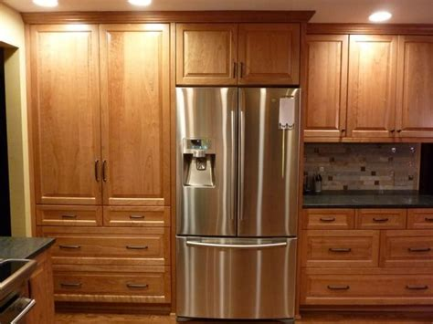 kitchen cabinets pantry cab to fridge 1 5 quot fillers by wall and on