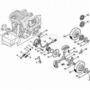 Stihl 029 Chainsaw  029  Parts Diagram  Oil Pump  Clutch