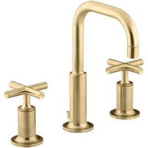 Modern Gold Bathroom Faucets by K14406 3 Bgd Purist 8 Widespread Bathroom Faucet