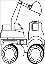 Bulldozer Coloring Printable Truck Wecoloring sketch template