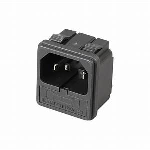 With 10a Fuse   Power Socket 15a 250v Ac 3 Terminal Power