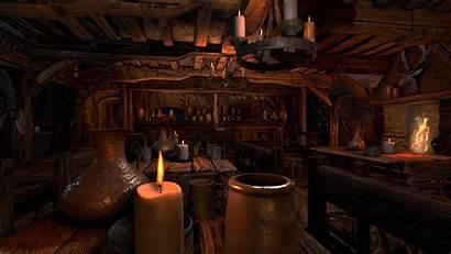 Medieval Tavern Interior Scene Inn Bar Inside