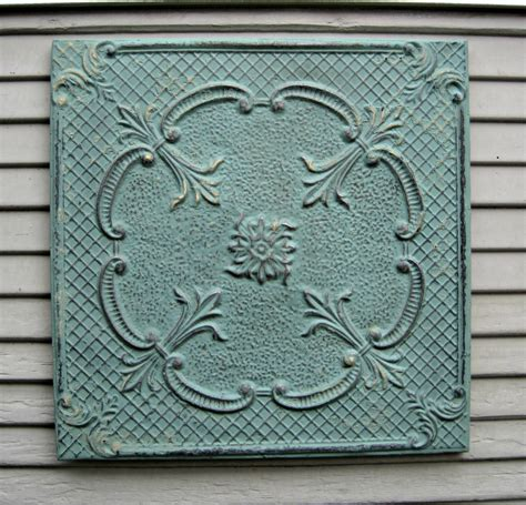 Antique Ceiling Tiles 24x24 by Framed 24x24 Antique Tin Ceiling Tile Circa