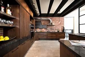 armoires de cuisine style loft industriel industriel With cuisine style loft industriel