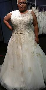 Plus size gold wedding dresses pluslookeu collection for Gold wedding dresses plus size