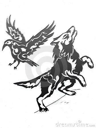 wolf-raven-gradient-7568104.jpg | Raven and wolf, Wolf, Raven