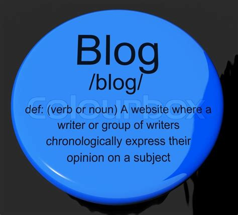 si鑒e d馭inition definition button showing website blogging or