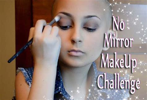 No Mirror Makeup Challenge!!