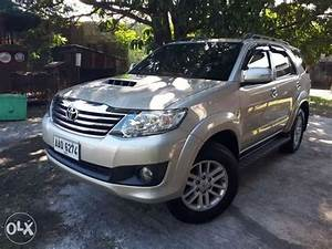 For Sale Only 2014 Toyota Fortuner G Manual Transmission
