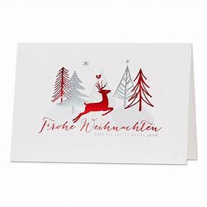 Weihnachtskarten Bestellen Günstig : weihnachtskarten in rot silber im festichen design bestellen weihnachtskarten 2017 2018 ~ Markanthonyermac.com Haus und Dekorationen