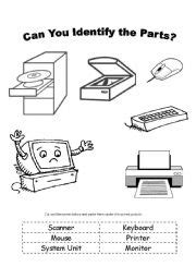 Can You Identify the Parts - ESL worksheet by jashtian1