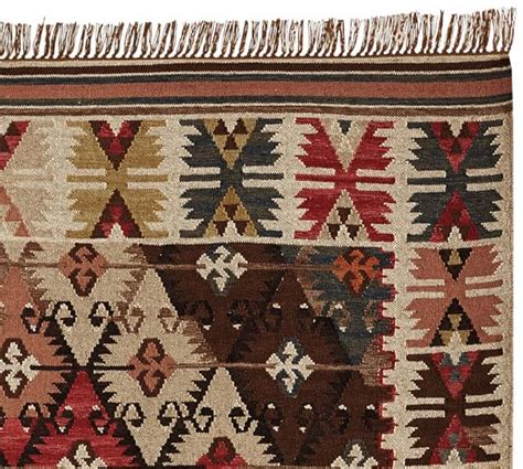 rosario kilim recycled yarn indoor outdoor rug pottery barn