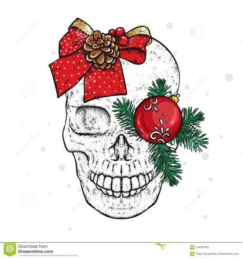 skull  christmas decorations  years  christmas