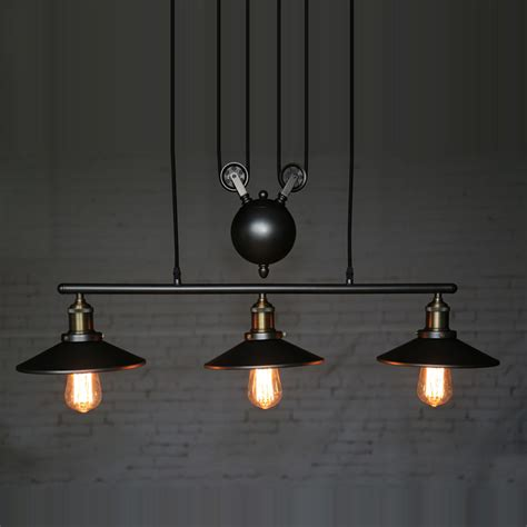 industrial country creative pulley design black iron hang