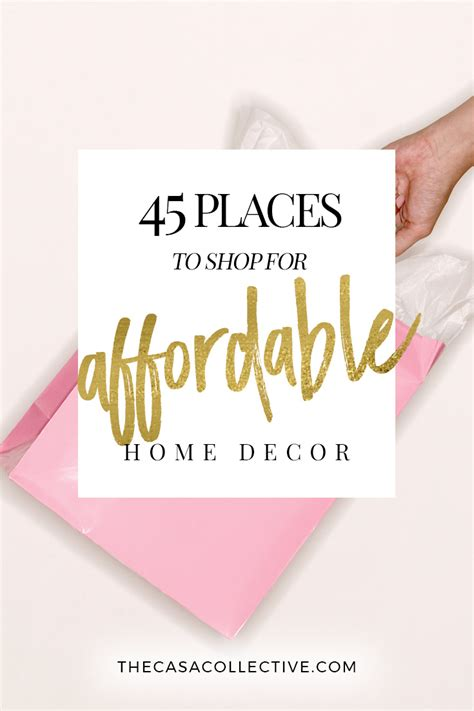 cheap home decor shopping 45 places to shop for affordable home decor