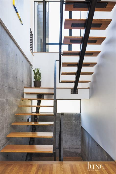 Reihenhaus Treppenhaus Gestalten by Modern White Oak And Steel Staircase Luxe Halls