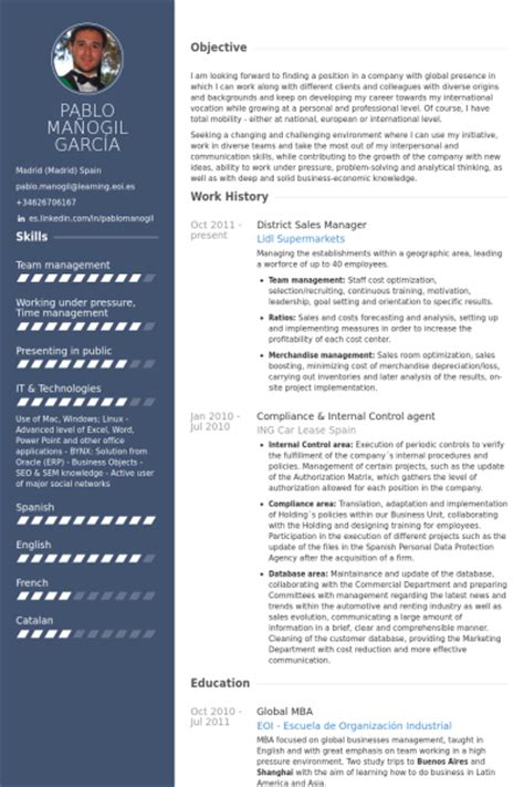 Creative Sales Manager Resume by Best Resume Sles Visualcv Resume Sles Database