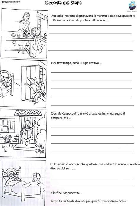 inventa una storia esercizi  italiano schede
