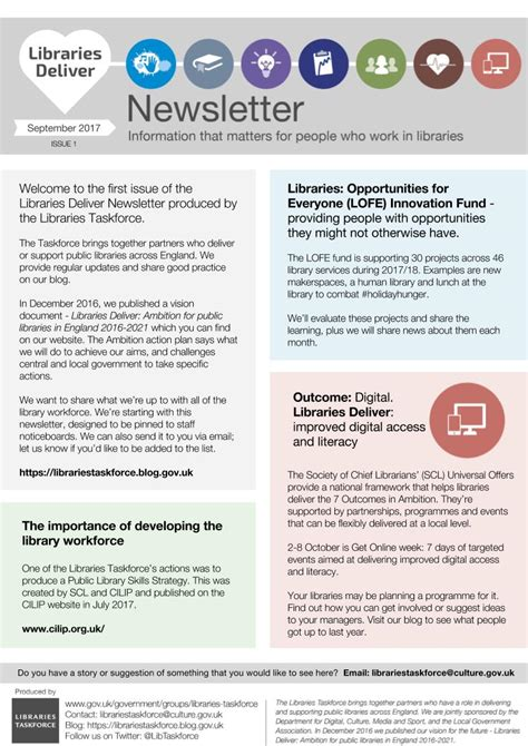 New Newsletter For People Who Work In Libraries