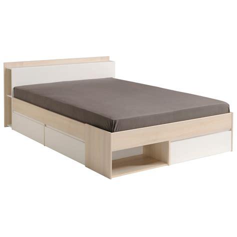 lit adulte avec rangement integre lit adulte contemporain avec rangements coloris blanc acacia foster lit chevet adulte lit