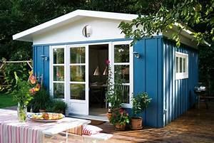Gartenhaus Streichen Vor Aufbau : bunte gartenh user 24 kreative ideen ~ Buech-reservation.com Haus und Dekorationen