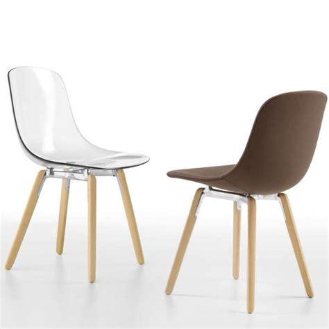 chaise en plexi chaise design en plexi pieds bois loop wooden infiniti 174 4 pieds tables chaises et