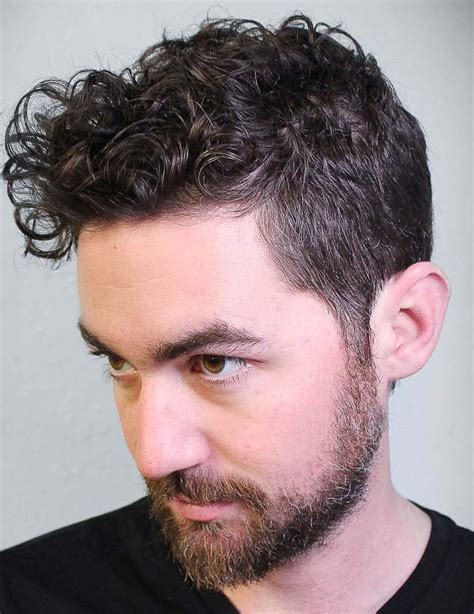 modern mens hairstyles  curly hair