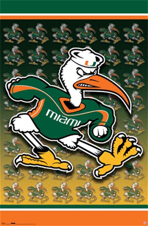 university  miami hurricanes football mascot sports art