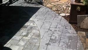Installing pavers next to concrete paver patio youtube for Pavers next to concrete patio