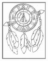 Native Coloring Printable Mandala Adult Symbols Horse Patterns Crafts Stained Southwestern sketch template