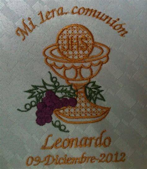 servilleta bordada personalizada para primera comunion 23 00 en mercado libre