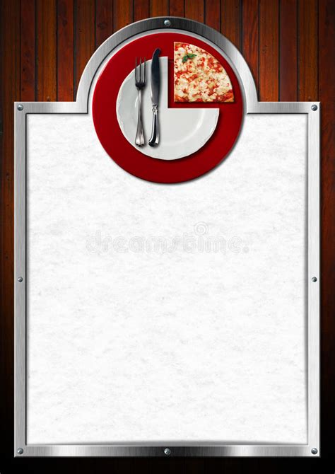 pizza menu design stock illustration illustration