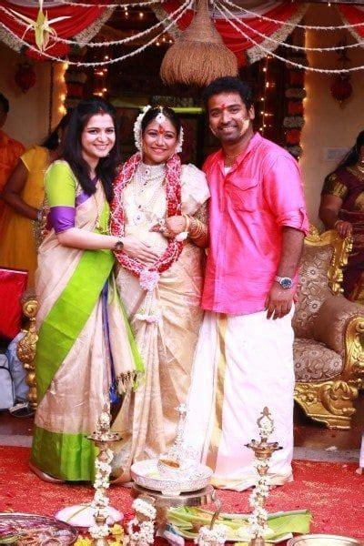 celebs  lalitha shobi baby shower function south india