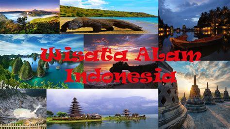 tempat wisata alam indonesia terindah  populer