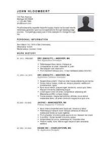 Professional Resume Exles 2017 by Free Resume Templates 2017 Resume Builder