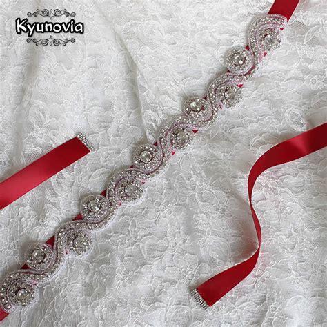 kyunovia crystal wedding belt bridal sash rhinestone sash