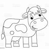 Coloring Cow Animals Farm Cartoon Animal Outline Vector Printable Incredible Agriculture Niobrarachalk Usa Drive2vote sketch template