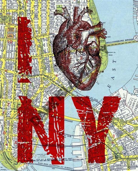 large art print  heart ny  love ny  york city