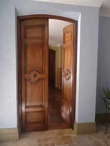 porte d39interieure ancienne en noyer style aixoise With porte d entrée pvc avec meuble salle de bain noyer