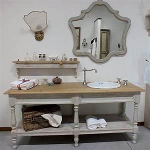 Composizione arredo bagno in legno di abete artigianale for Arredo bagno in legno