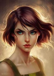 deviantART Digital Art Girls Brown Hair