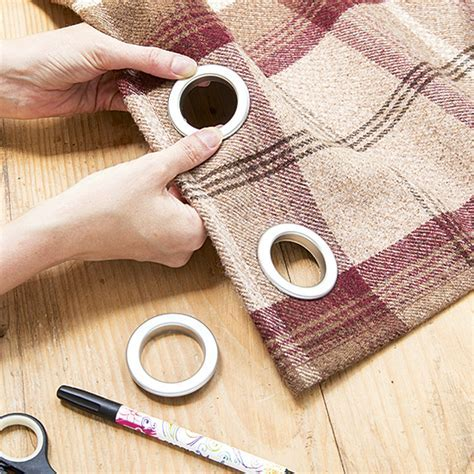 Make eyelet curtains in three easy steps to transform your