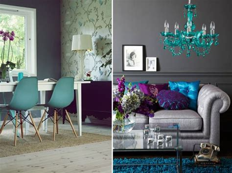 Purple Grey And Turquoise Living Room by Purple Turquoise And Grey Living Room Color Scheme