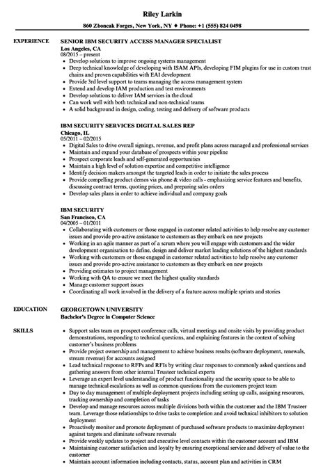 Security Resume Sles by Ibm Security Resume Sles Velvet