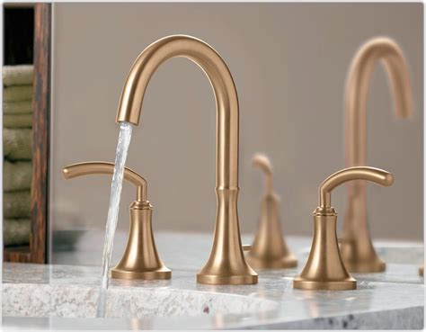 Polished Brass Bathroom Faucets Contemporary by Moen Ts6520 Icon Two Handle High Arc Bathroom Faucet