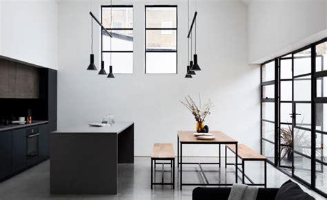 schoolhouse turned   minimalist  industrial home